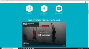 Website: fit-koeln.de mit täglichem Live-Stream zum Fit-bleiben