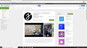 Website: Google Playstore mit Link zum Spiel just a line