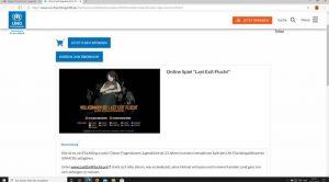 Website mit Link zum Spiel Last Exit Flucht