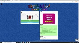 Website: skribbl.io mit Link zum Spiel