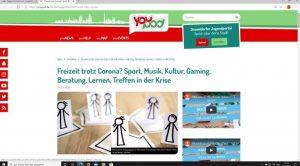 Website: youpod.de mit Link zur Freizeitgestaltung