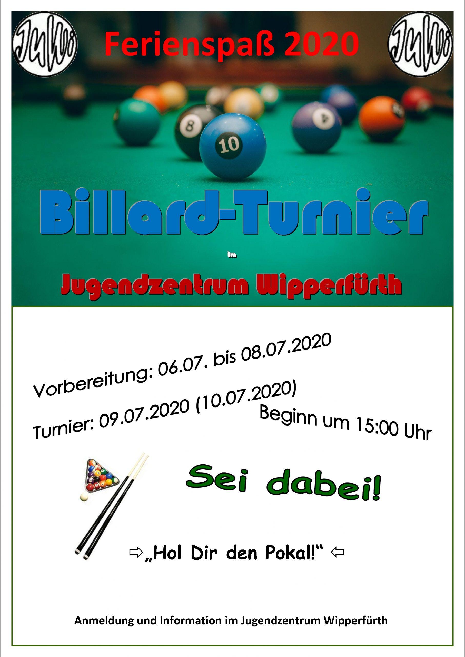 Billard-Turnier im JuWi.